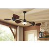Harbor Breeze Twin Breeze II 74-in Oil Rubbed Bronze Downrod Mount Indoor/Outdoor Ceiling Fan with Light Kit (6-Blade)