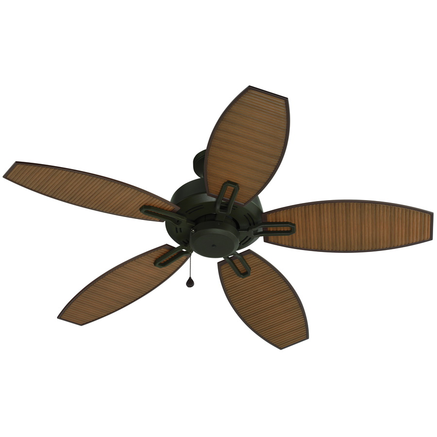 Shop Harbor Breeze Ocracoke 52 In Specialty Bronze Outdoor Downrod Or Flush Mount Ceiling Fan