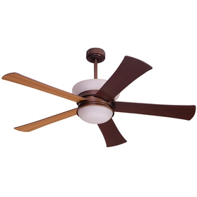 allen + roth Macbay 58-in Light Oil Rubbed Bronze Downrod Mount Indoor Ceiling Fan with Light Kit and Remote