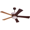 allen + roth Macbay 58-in Light Oil Rubbed Bronze Downrod Mount Indoor Ceiling Fan with Light Kit and Remote Control