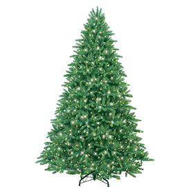 GE 7.5-ft Fir Pre-lit Artificial Christmas Tree with 900-Count Clear Lights