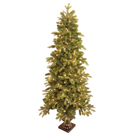 GE 6-ft Spruce Pre-lit Decorative Artificial Tree with 200-Count Clear Lights