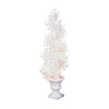 GE 4.5-ft Pre-Lit Spiral White Artificial Christmas Tree with White Incandescent Lights
