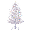 GE 5-ft Pre-Lit Winterberry White Artificial Christmas Tree with White Incandescent Lights