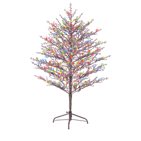 GE 5-ft Pre-Lit Winterberry Artificial Christmas Tree with Multicolor LED Lights