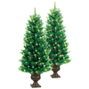 GE 4-ft Indoor/Outdoor Pine Pre-lit Decorative Artificial Tree with 100-Count Clear Lights