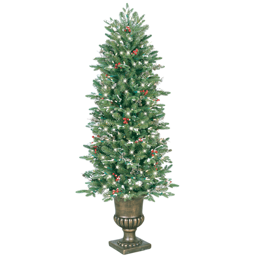 shop ge 5 ft pre lit pine artificial christmas tree with 200 count clear incandescent lights at. Black Bedroom Furniture Sets. Home Design Ideas