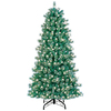 GE 7-ft Pre-Lit Cashmere Artificial Christmas Tree with White Lights