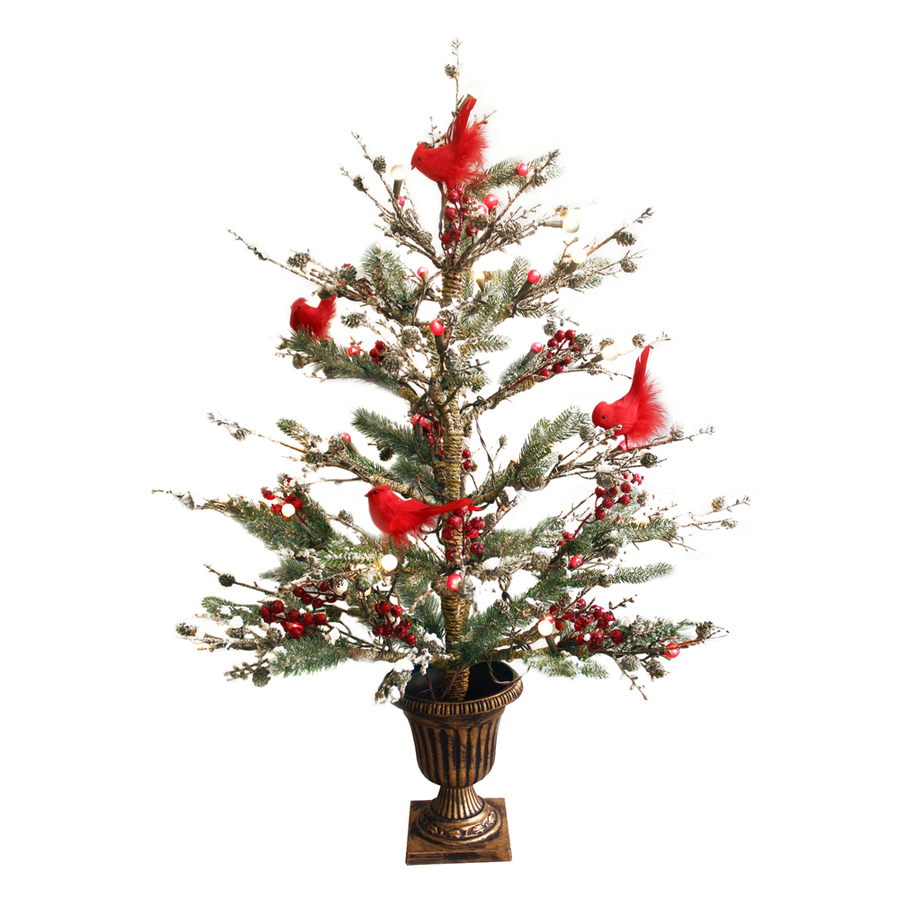 Shop ge 3 ft indoor outdoor pre lit twig artificial Outdoor christmas tree photos