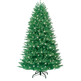 GE 7-ft Fir Pre-lit Artificial Christmas Tree with 600-Count Clear Lights