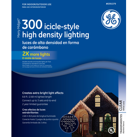 GE 300-Count Mini Clear Christmas Icicle String Lights