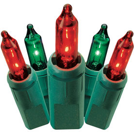 GE String-A-Long 100-Count Red/Green Mini Christmas String Lights