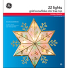 GE 10-in Plastic Star Christmas Tree Topper with White Incandescent Lights