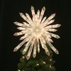 GE 13-in Plastic Snowflake Christmas Tree Topper with White Incandescent Lights