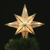 GE 10-in Capiz Star Christmas Tree Topper with White Incandescent Lights