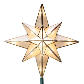 GE Star Tree Topper with White Incandescent Lights