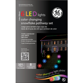 Shop Ge 6 Pack Led Snowflake Color Changing Pathway Ge Color Changing Led Lights