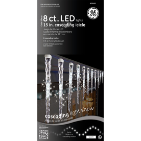 GE 96-Count LED Mini White Christmas Icicle String Lights ENERGY STAR