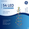 GE 5-ft Metal LED Spiral Christmas Tree