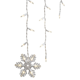 GE 150-Count Indoor/Outdoor Constant Clear Incandescent Mini Christmas Icicle Lights