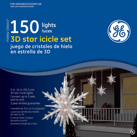 GE 150-Count Mini Clear Christmas Icicle String Lights