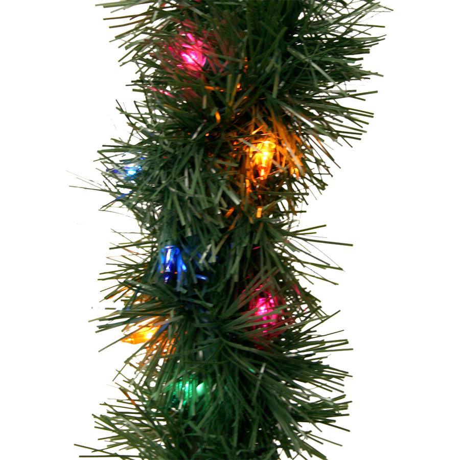 shop ge 18 ft pre lit indoor outdoor pine artificial