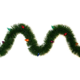 GE 36-ft Indoor/Outdoor Pine Artificial Garland with Multicolor Lights