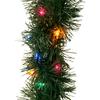 GE 3.5-in x 45-ft Pre-Lit Indoor/Outdoor Pine Artificial Christmas Garland with Multicolor Incandescent Lights