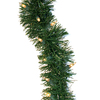 GE 3.5-in x 45-ft Pre-Lit Indoor/Outdoor Branch Artificial Christmas Garland with White Incandescent Lights