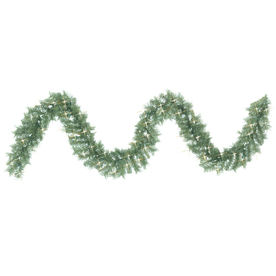 GE 9-ft Indoor/Outdoor Pine Artificial Garland with Clear Lights