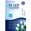 GE 50-Count LED Dome White Christmas String Lights ENERGY STAR