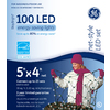 GE 100-Count LED Dome White Christmas Net String Lights ENERGY STAR