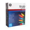 GE StayBright 70-Count 17.25-ft Constant Multicolor Mini LED Copper Wire String Plug-in Christmas String Lights ENERGY STAR Certified