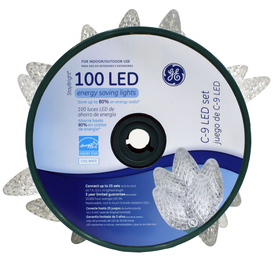 GE 100-Count LED C9 White Christmas String Lights ENERGY STAR