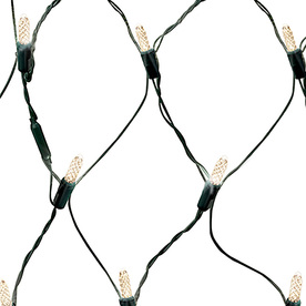 GE 100-Count LED Mini White Christmas Net String Lights ENERGY STAR