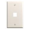Legrand Keystone 1-Gang Light Almond Blank Plastic Wall Plate