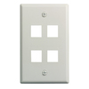 On-Q/Legrand Keystone 1-Gang Almond Blank Plastic Wall Plate