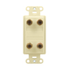 On-Q/Legrand Nickel Binding Post Audio Connector
