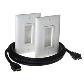 Legrand Plastic Combination Wall Jack