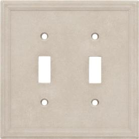 Somerset Collection 2-Gang Sand Toggle Wall Plate