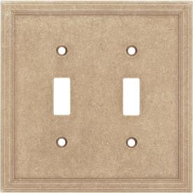 Somerset Collection 2-Gang Sienna Standard Toggle Cast Stone Wall Plate