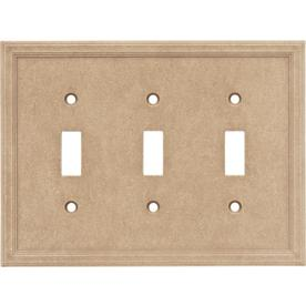 Somerset Collection 3-Gang Sienna Toggle Wall Plate
