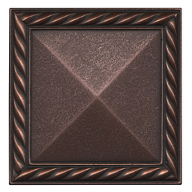 Somerset Collection 4-in x 4-in Somerset Oil-Rubbed Bronze Metal Square Accent Tile