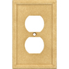 Somerset Collection 1-Gang Sahara Standard Duplex Receptacle Cast Stone Wall Plate