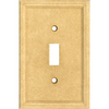 Somerset Collection 1-Gang Sahara Standard Toggle Cast Stone Wall Plate