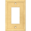 Somerset Collection 1-Gang Sahara Decorator Single Receptacle Cast Stone Wall Plate