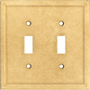 Somerset Collection 2-Gang Sahara Standard Toggle Cast Stone Wall Plate
