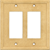 Somerset Collection 2-Gang Sahara GFCI Cast Stone Wall Plate