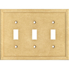 Somerset Collection 3-Gang Sahara Standard Toggle Cast Stone Wall Plate