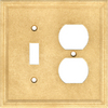 Somerset Collection 2-Gang Sahara Combination Cast Stone Wall Plate